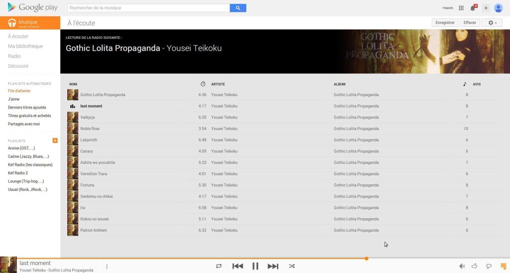 Ecoute d'un album